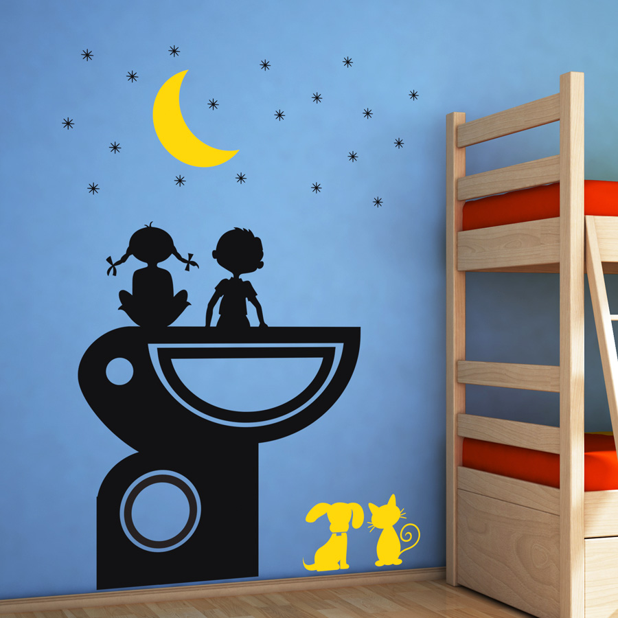 Alphabet wall decals singapore wall decals for baby room for Islamic wall clock singapore