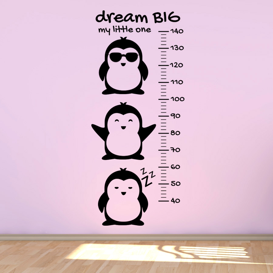 PENGUINS GROWTH CHART: Quality Made-in-Singapore Decal from Decorette
