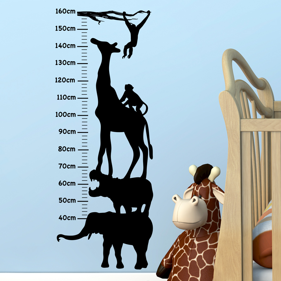 SAFARI GROWTH CHART: Quality Made-in-Singapore Decal from Decorette