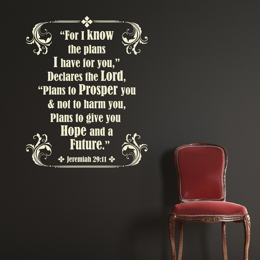 JEREMIAH SCRIPTURE: Quality Made-in-Singapore Decal from Decorette