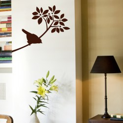 BIRDIE ON BRANCH: Quality Made-in-Singapore Decal from Decorette