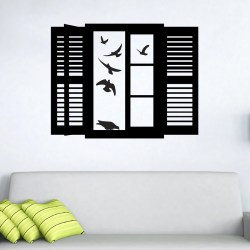 BIRDS IN WINDOW: Quality Made-in-Singapore Decal from Decorette
