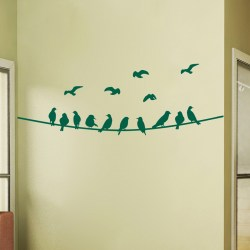 BIRDS ON WIRE: Quality Made-in-Singapore Decal from Decorette