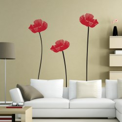 POPPY FLOWERS: Quality Made-in-Singapore Decal from Decorette