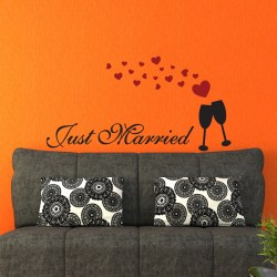 JUST MARRIED: Quality Made-in-Singapore Decal from Decorette