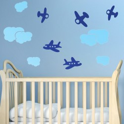 CLOUDS & PLANES: Quality Made-in-Singapore Decal from Decorette