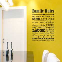FAMILY RULES: Quality Made-in-Singapore Decal from Decorette