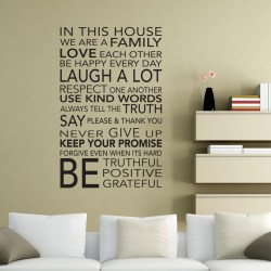 IN THIS HOUSE (FAMILY): Quality Made-in-Singapore Decal from Decorette
