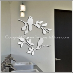 Birdie Branch Mirror Decal