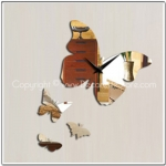 Butterfly Mirror Clock Decal