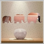 Elephant Mirror Wall Decals