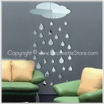 Raindrops Mirror Decal