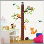 woodlands growth chart wall sticker