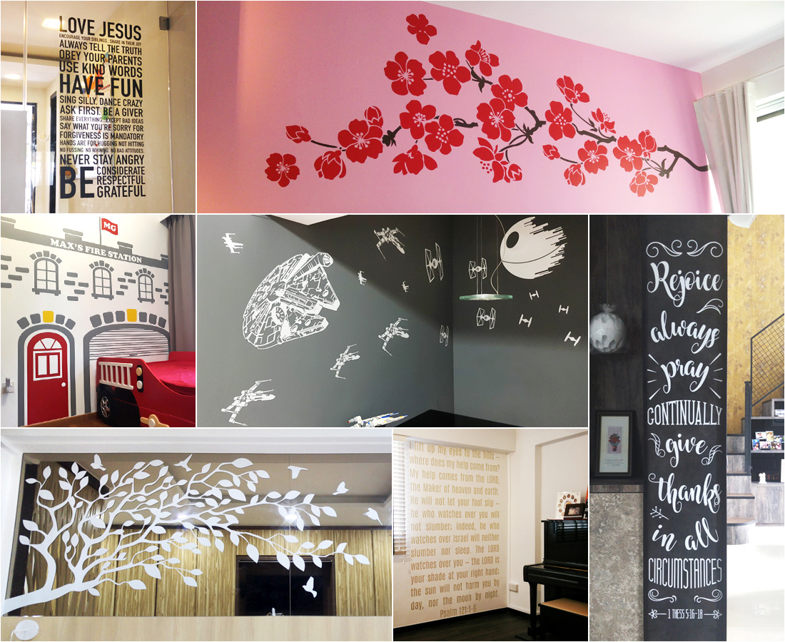 Decorette - Made In Singapore Vinyl Die Cut Decals for Homes
