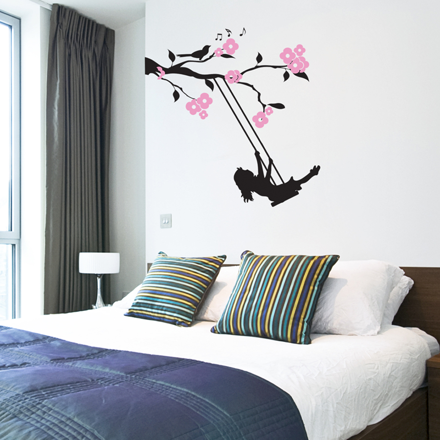 FLORAL BRANCH SWING: Quality Made-in-Singapore Decal from Decorette