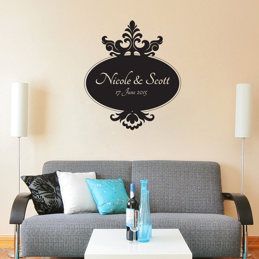 BAROQUE MONOGRAM: Quality Made-in-Singapore Decal from Decorette
