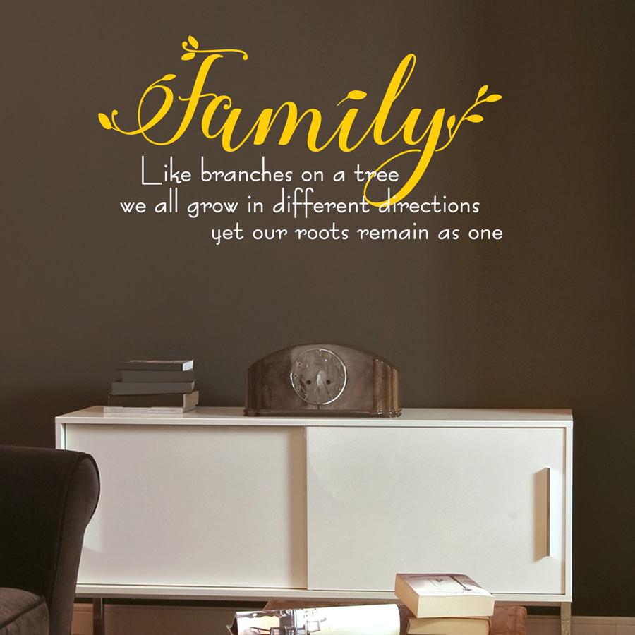 ONE FAMILY: Quality Made-in-Singapore Decal from Decorette