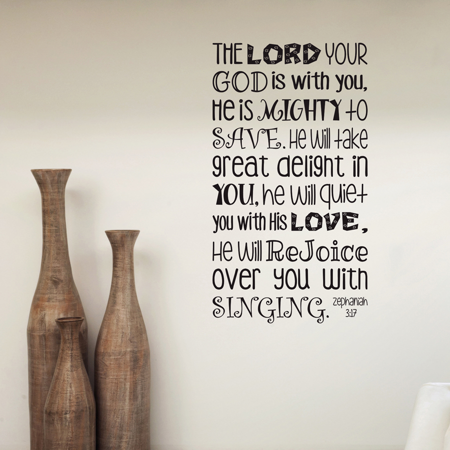 THE LORD YOUR GOD: Quality Made-in-Singapore Decal from Decorette