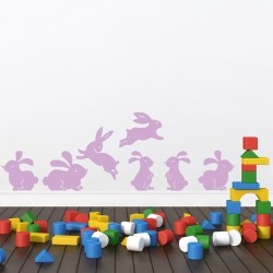 BUNNY RABBITS: Quality Made-in-Singapore Decal from Decorette