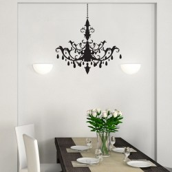 CLASSY CHANDELIER: Quality Made-in-Singapore Decal from Decorette