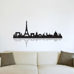 PARIS-SKYLINE (WITH REFLECTION): Quality Made-in-Singapore Decal from Decorette